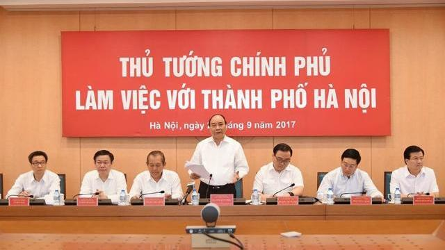 Thủ tướng Nguyễn Xuân Phúc làm việc với thành phố Hà Nội