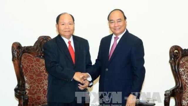 Thủ tướng Nguyễn Xuân Phúc tiếp Bộ trưởng bộ nội vụ Lào