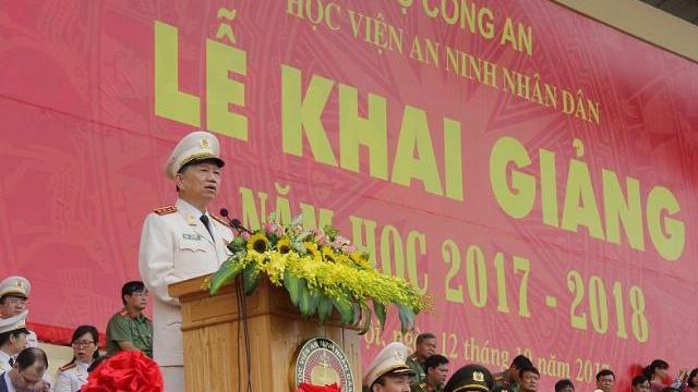 Bộ trưởng Tô Lâm dự khai giảng năm học mới tại Học viện ANND