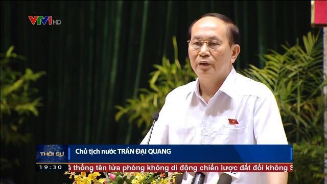 Chủ tịch nước Trần Đại Quang tiếp xúc cử tri