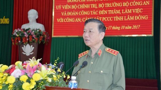 Bộ trưởng Tô Lâm làm việc với Công an, Cảnh sát PCCC Lâm Đồng