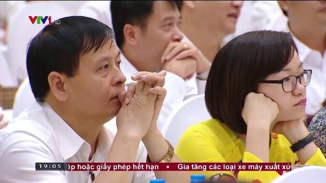Thủ tướng Nguyễn Xuân Phúc tại hội nghị tổng kết 1 năm thực hiện tín dụng chính sách xã hội