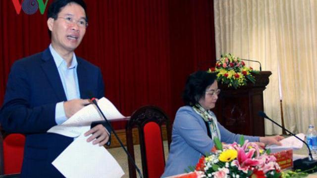 Ông Võ Văn Thưởng họp bàn phòng chống suy thoái trong nội bộ