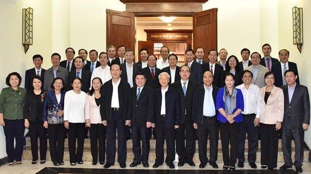 Bộ Chính trị làm việc với thành ủy TP Hồ Chí Minh