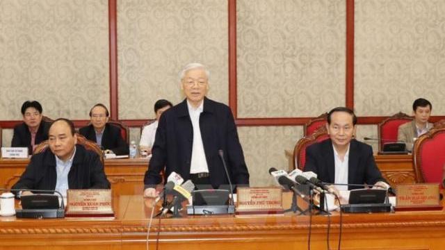 Bộ chính trị làm việc với thành ủy Hà Nội