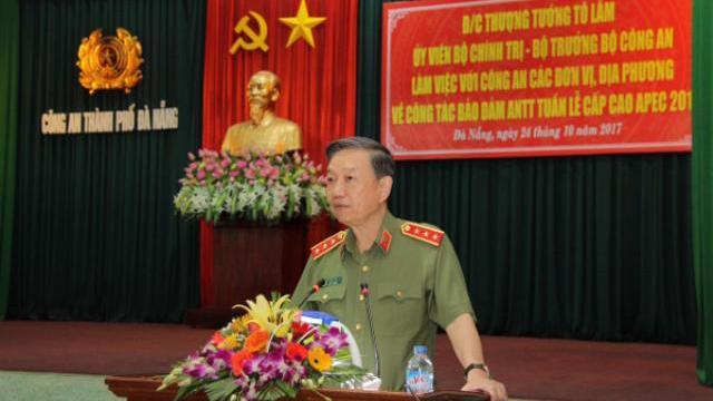 Bộ trưởng Tô Lâm: Đảm bảo tuyệt đối an toàn cho tuần lễ cấp cao APEC