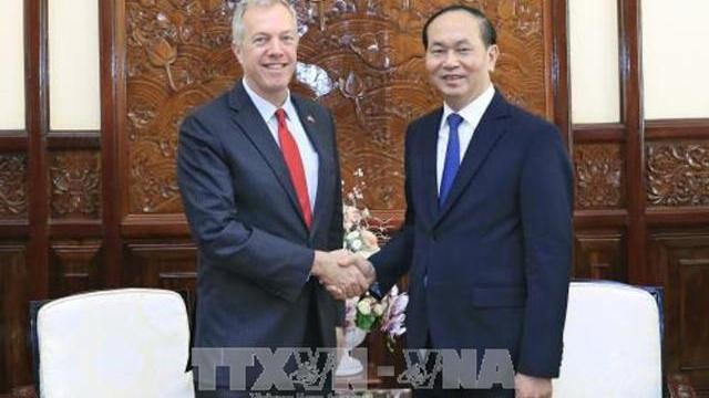 Chủ tịch nước Trần Đại Quang tiếp đại sứ Mỹ