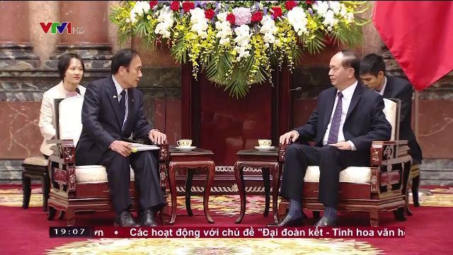 Chủ tịch nước Trần Đại Quang tiếp tỉnh trưởng tỉnh Saitama, Nhật Bản