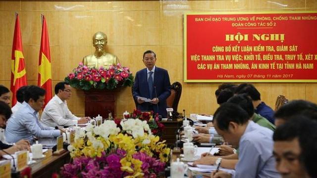 Công bố kết quả kiểm tra, giám sát phòng, chống tham nhũng tại tỉnh Hà Nam