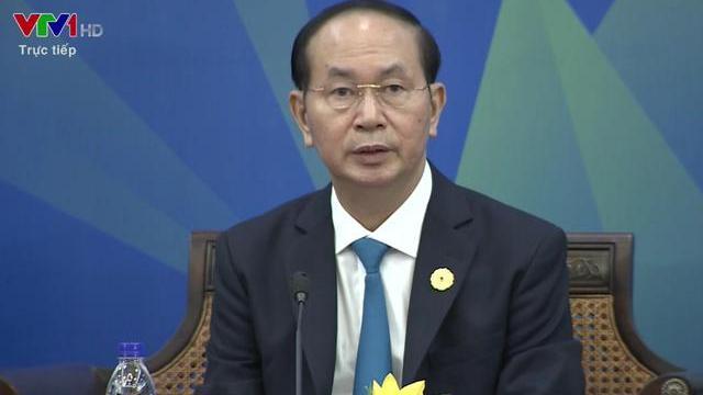 Chủ tịch nước Trần Đại Quang phát biểu tại phiên Đối thoại Lãnh đạo APEC với ABAC