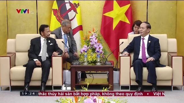 Chủ tịch nước Trần Đại Quang tiếp Quốc vương Brunei