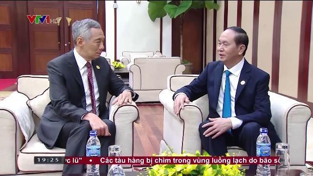 Chủ tịch nước Trần Đại Quang tiếp Thủ tướng Singapore