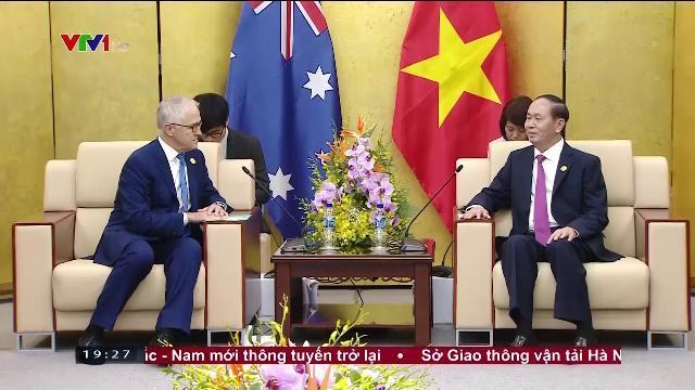 Chủ tịch nước Trần Đại Quang gặp Thủ tướng Australia
