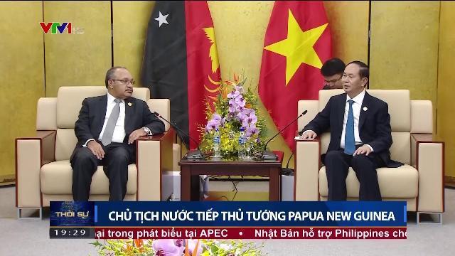 Chủ tịch nước Trần Đại Quang tiếp Thủ tướng Papua New Guinea