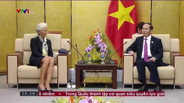 Chủ tịch nước Trần Đại Quang tiếp tổng giám đốc IMF