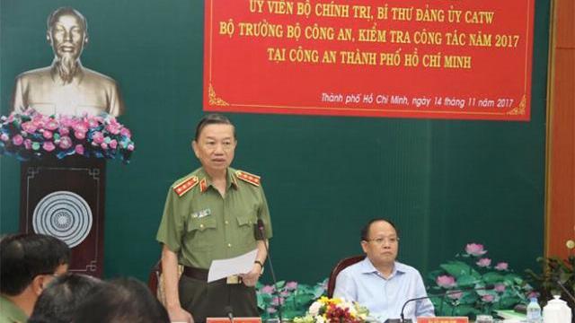 Bộ trưởng Tô Lâm làm việc tại TP. Hồ Chí Minh
