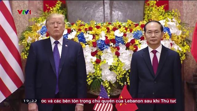 Chủ tịch nước Trần Đại Quang tiếp Tổng thống Hoa Kỳ thăm cấp nhà nước Việt Nam