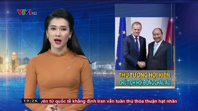 Thủ tướng Nguyễn Xuân Phúc hội kiến Chủ tịch hội đồng Châu Âu