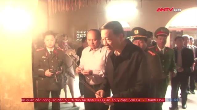 Bộ trưởng Tô Lâm thăm và làm việc tại Khu di tích Công an khu XII