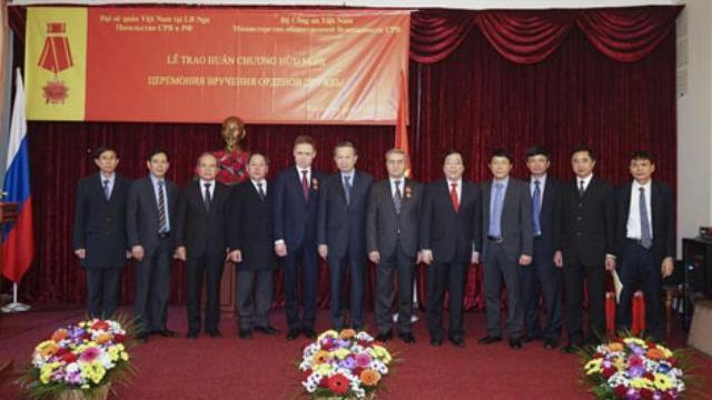 Lễ Trao Huân chương Hữu nghị tặng lãnh đạo Cơ quan An ninh Liên bang Nga