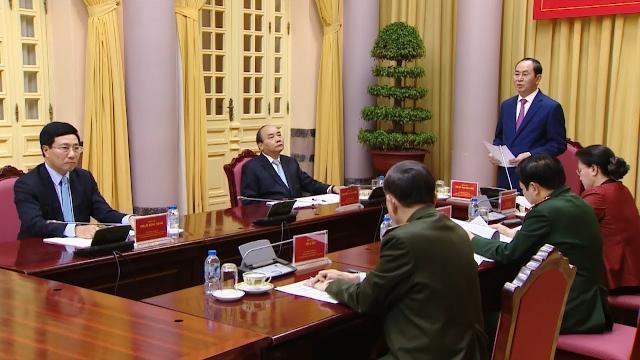Phiên họp thứ hai Hội đồng Quốc phòng An ninh nhiệm kỳ 2016 - 2021