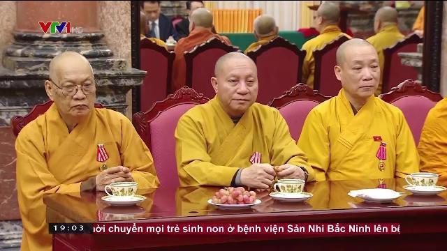 Chủ tịch nước Trần Đại Quang tiếp TW giáo hội phật giáo Việt Nam