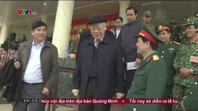 Tổng bí thư Nguyễn Phú Trọng kiểm tra công tác huấn luyện, sẵn sàng chiến đấu của quân đội