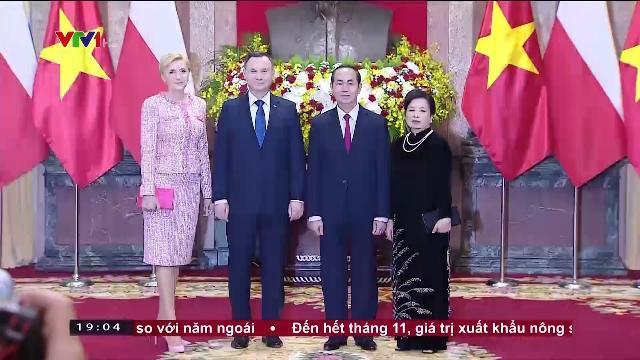 Chủ tịch nước Trần Đại Quang tiếp Tổng thống Ba Lan thăm cấp nhà nước Việt Nam