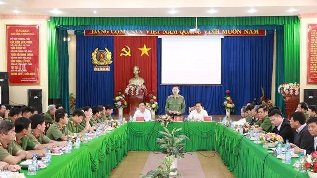 Bộ trưởng Tô Lâm làm việc tại Công an tỉnh Bình Phước