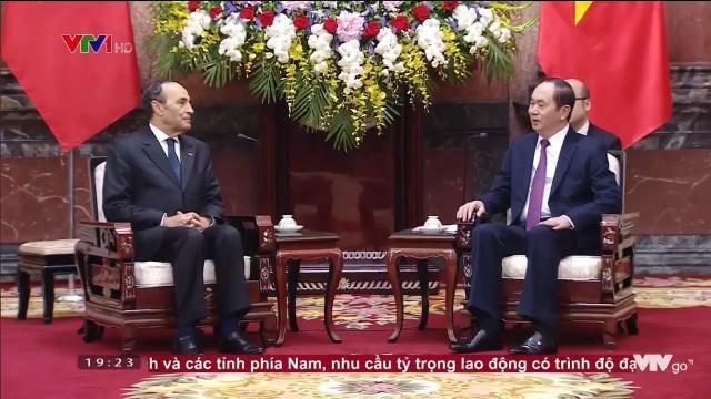 Chủ tịch nước Trần Đại Quang tiếp Chủ tịch hạ viện Morocco