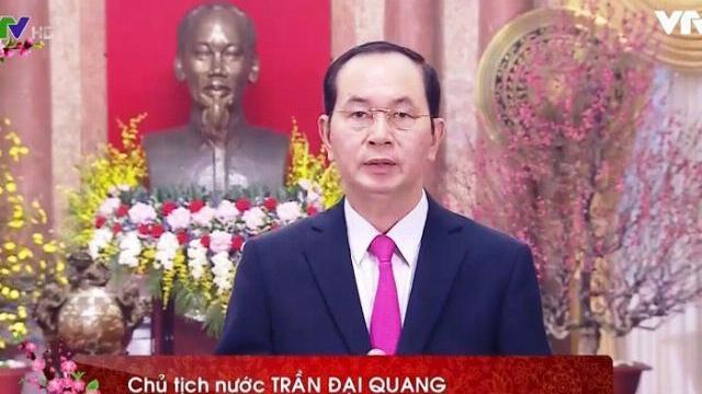 Chủ tịch nước Trần Đại Quang chúc tết Mậu Tuất 2018