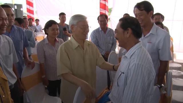 Tổng Bí thư Nguyễn Phú Trọng thăm và làm việc với tỉnh An Giang