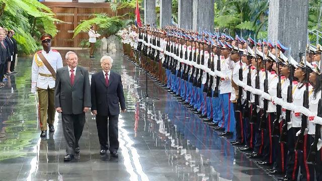 Lễ đón chính thức Tổng Bí thư Nguyễn Phú Trọng thăm cấp Nhà nước tới Cuba