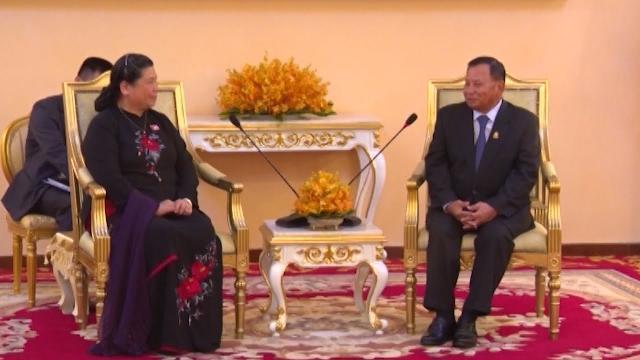 Hoạt động của Phó Chủ tịch Thường trực Quốc hội Tòng Thị Phóng tại Campuchia