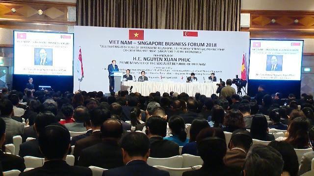 Thủ tướng Nguyễn Xuân Phúc dự Diễn đàn Kinh doanh Việt Nam - Singapore