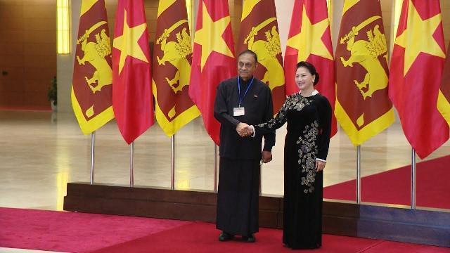 Chủ tịch Quốc hội Nguyễn Thị Kim Ngân đón, hội đàm với Chủ tịch Quốc hội Sri Lanka