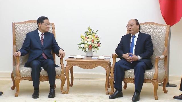 Thủ tướng tiếp Chủ tịch Khu tự trị dân tộc Choang, Quảng Tây, Trung Quốc