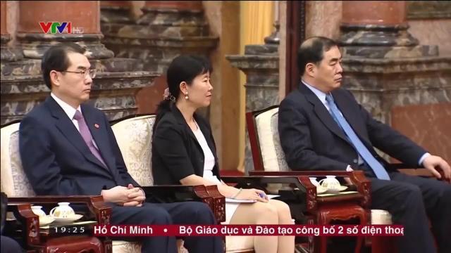 Chủ tịch nước Trần Đại Quang tiếp Ủy viên Quốc vụ Trung Quốc