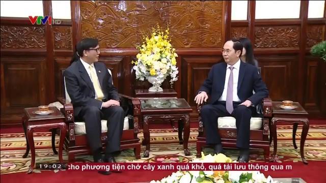 Chủ tịch nước Trần Đại Quang tiếp đại sứ Thái Lan