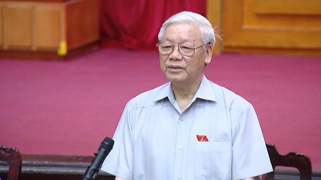 Tổng Bí thư Nguyễn Phú Trọng tiếp xúc cử tri các quận Thanh Xuân, Hà Đông, TP Hà Nội