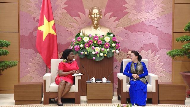 Chủ tịch Quốc hội Nguyễn Thị Kim Ngân tiếp Phó Chủ tịch Ngân hàng thế giới Victoria Kwakwa