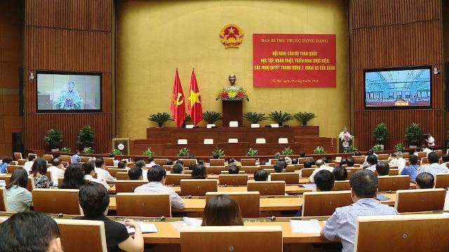 Hội nghị toàn quốc quán triệt các Nghị quyết Hội nghị Trung ương 7