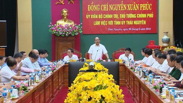 Thủ tướng Nguyễn Xuân Phúc làm việc với tỉnh Thái Nguyên