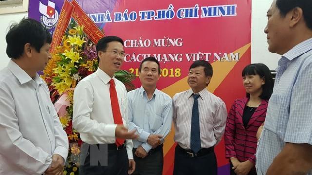 Đồng chí Võ Văn Thưởng thăm, chúc mừng Hội Nhà báo TP Hồ Chí Minh