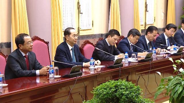 Chủ tịch nước tiếp đoàn Ủy ban Kinh tế Nhật - Việt