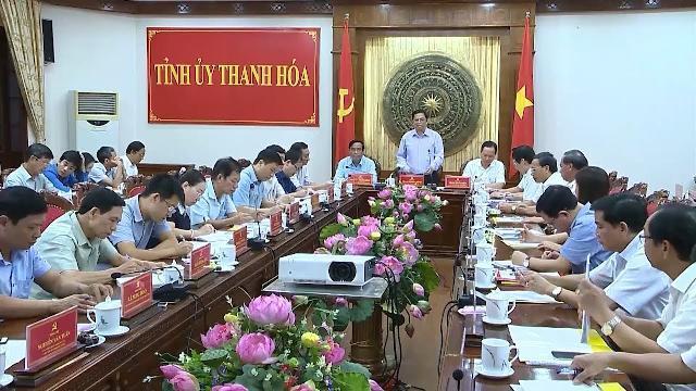 Trưởng Ban Tổ chức Trung ương Phạm Minh Chính làm việc tại tỉnh Thanh Hóa