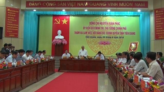 Thủ tướng Nguyễn Xuân Phúc làm việc với tỉnh Tiền Giang