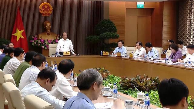 Thủ tướng chủ trì họp thường trực Chính phủ về công tác tổ chức Hội nghị WEF ASEAN