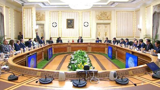 Chủ tịch nước Trần Đại Quang hội kiến Thủ tướng Cộng hòa Arab Ai Cập