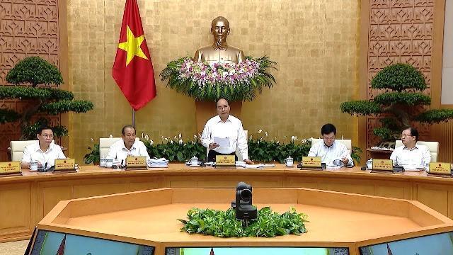 Thủ tướng chủ trì phiên họp Chính phủ thường kỳ tháng 8 - 2018